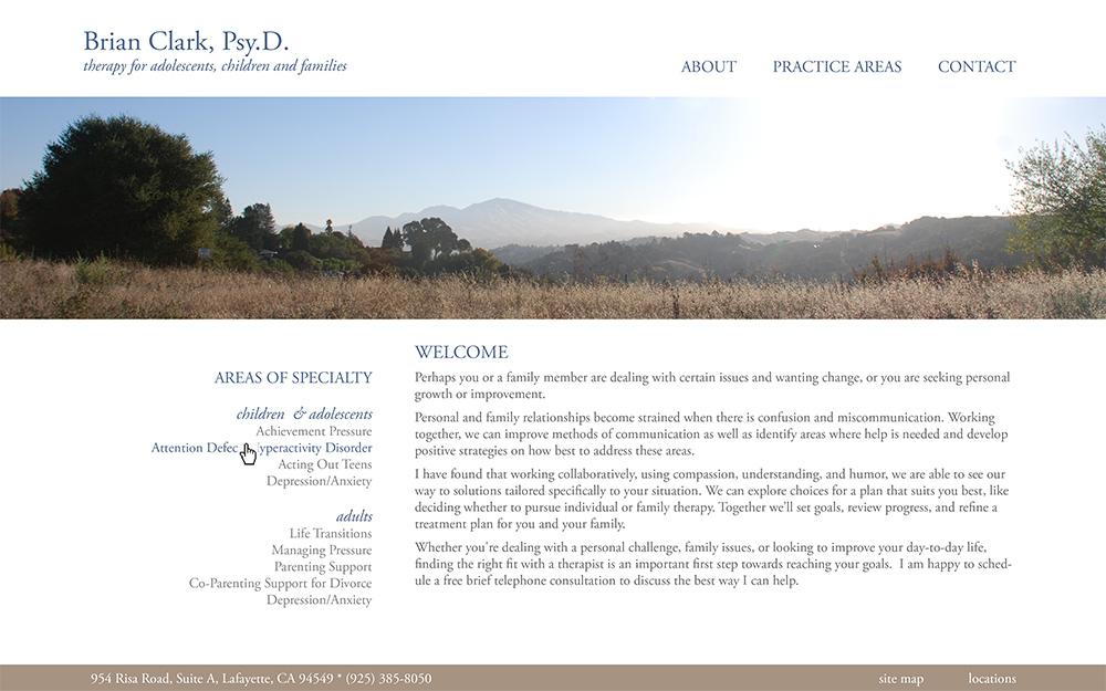 Brian Clark, PsyD - Website