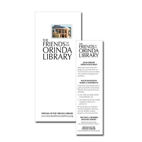 Friends of the Orinda Library - Brochure / Bookmark