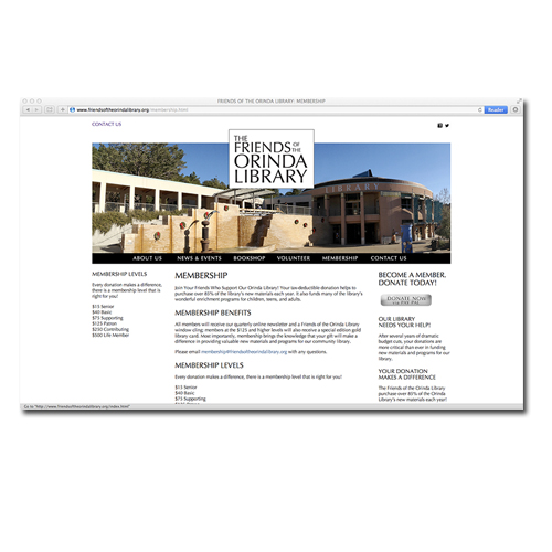 Friends of the Orinda Library Website