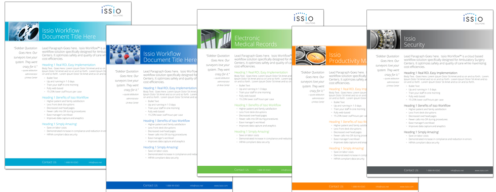 Issio Product Sheets