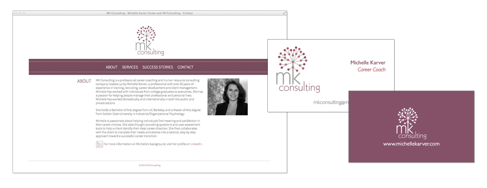 MK Consulting - website / business cards