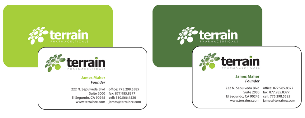 Terrain Business Cards