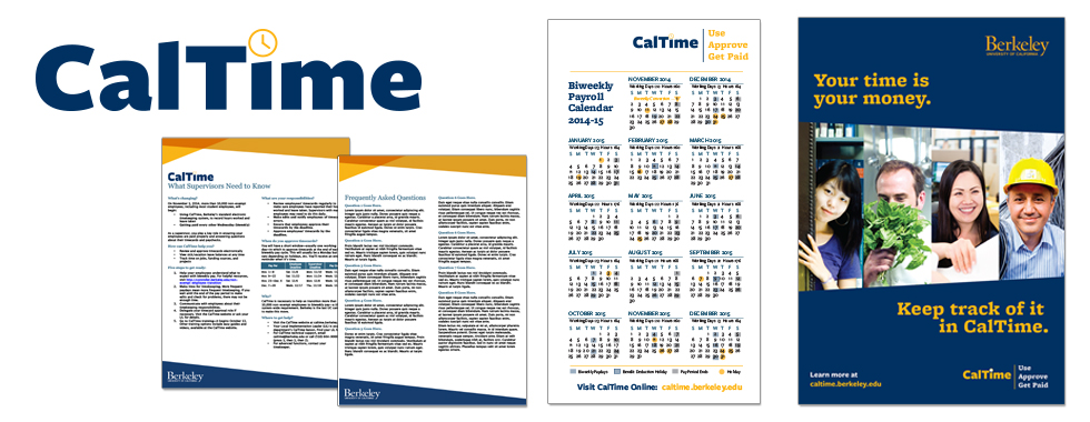 CalTime/UC Berkeley - schedule, poster, collateral