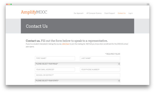 Amplify MOOC Website
