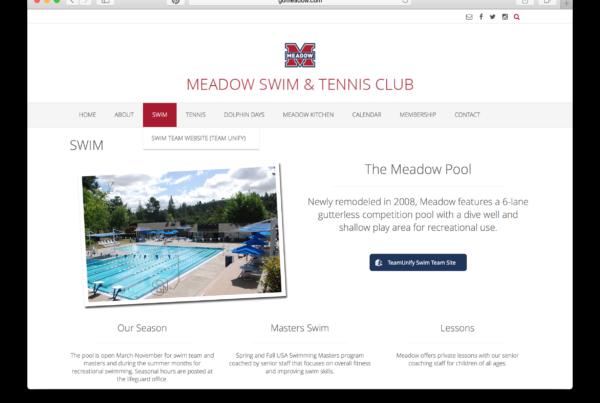 Meadow Swim & Tennis Club - Website / Swim