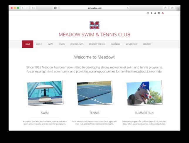 Meadow Swim & Tennis Club - Website / Home