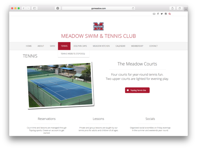 Meadow Swim & Tennis Club - Website / Tennis