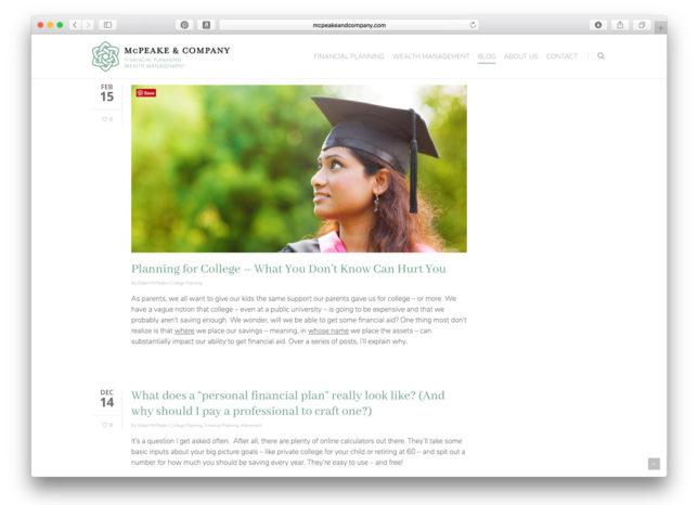 McPeake & Company - Website