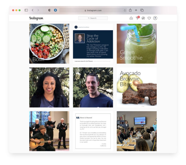 Comprehensive Wellness - Social Media / Instagram Feed