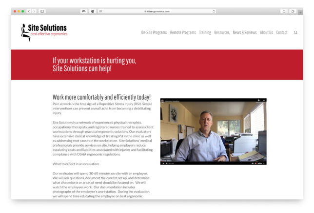 Site Solutions - Website