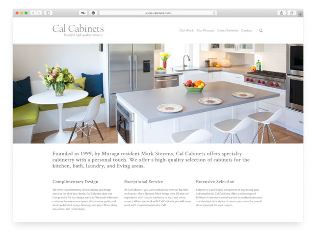 Cal Cabinets - Website Homepage