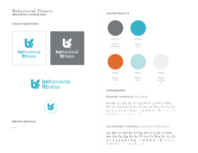 Behavioral Fitness - Style Guidelines / Brand Assets