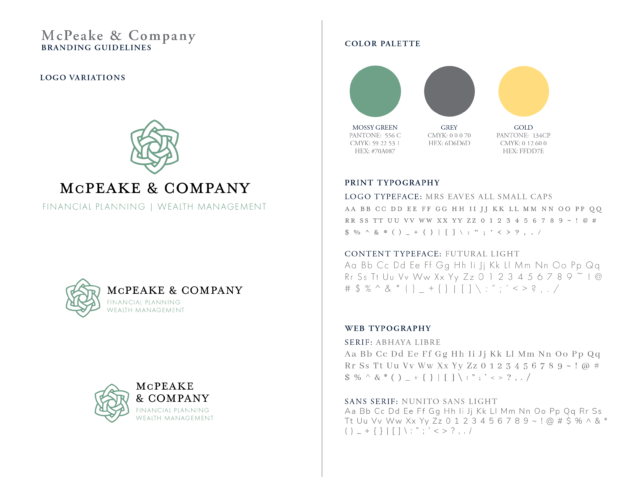 McPeake & Company - Style Guidelines / Brand Assets