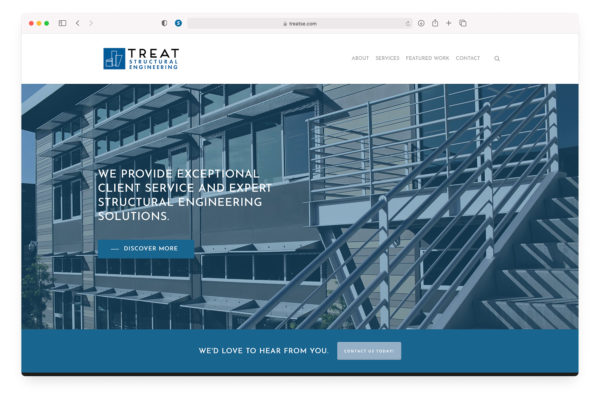 Treat Structural Engineering - Website Home Page