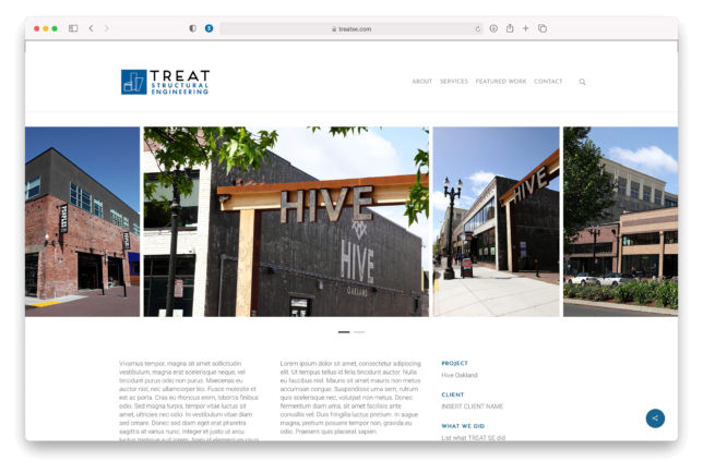 Treat Structural Engineering - Website