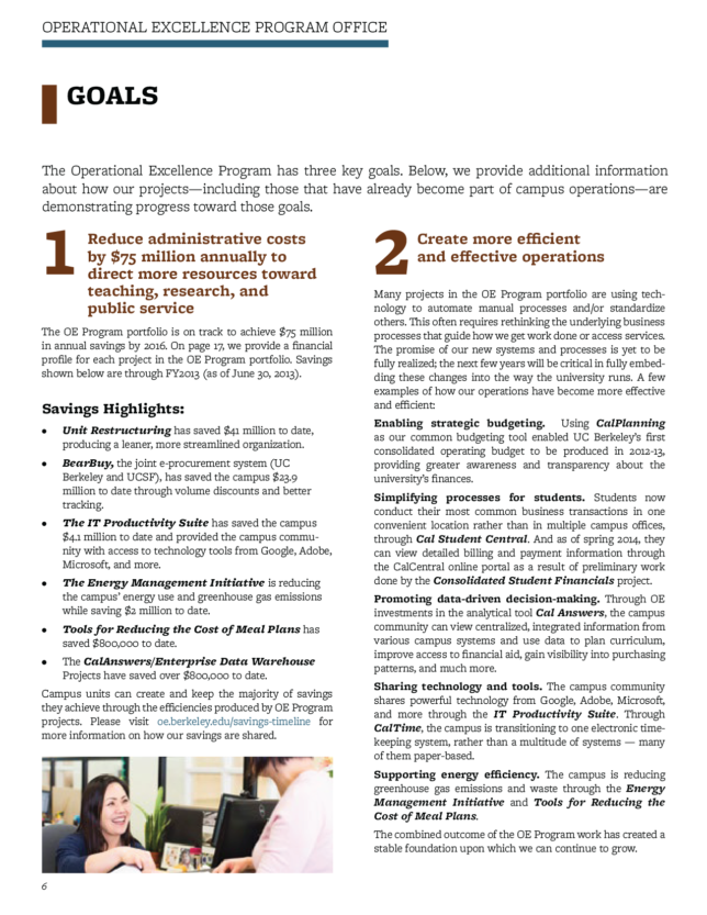 UC Berkeley - Operational Excellence Project Office Annual Report