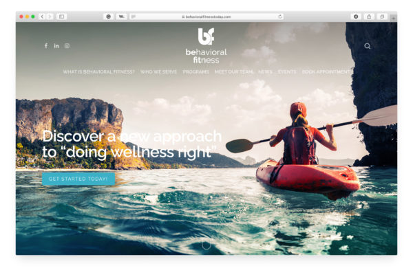 Behavioral Fitness - Website Homepage