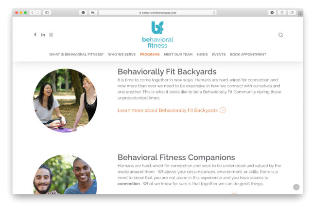 Behavioral Fitness - Website