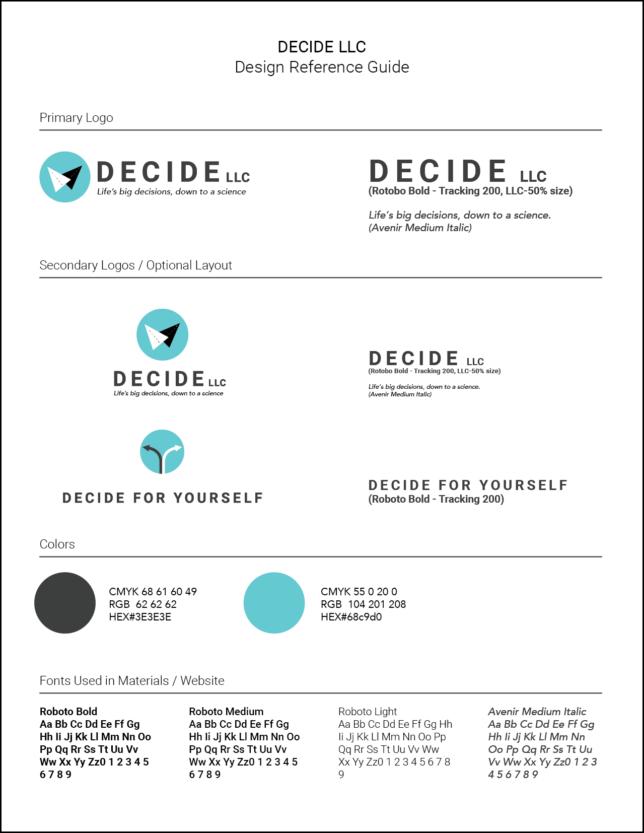 Decide LLC - Style Guideline / Design Reference