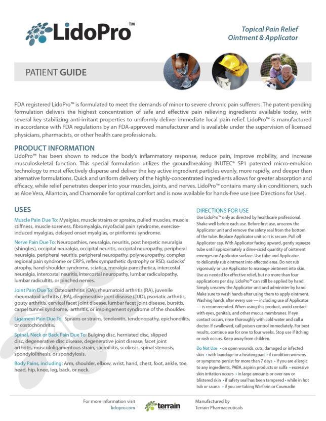 Lido Pro - Patient Guide