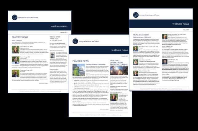 Comprehensive Wellness - Print Newsletter