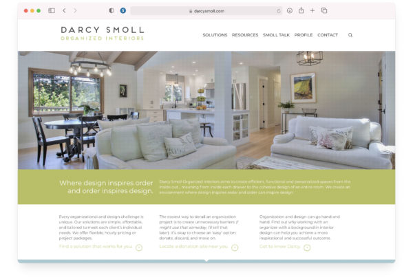 Darcy Smoll - Website Homepage