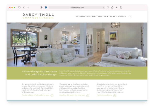 Darcy Smoll - Website Homepage