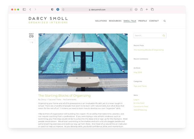 Darcy Smoll - Website Blog
