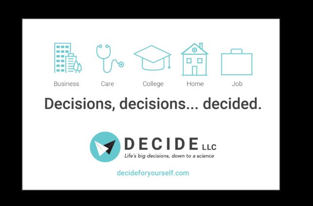 Decide LLC - postcard campaign