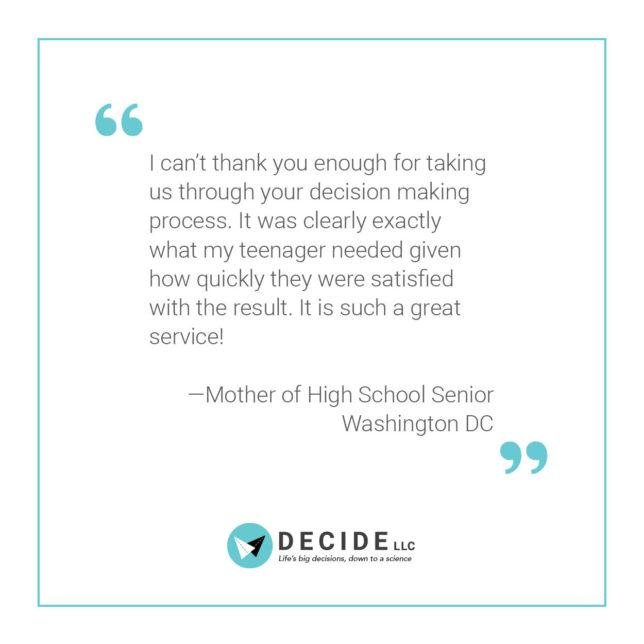 Decide LLC - Social Media Campaign / Testimonials